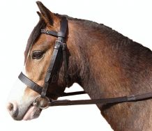 Hunter Bridle with Plaited Browband and Rubber Reins